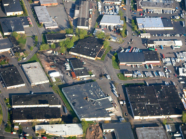 Industrial Area Aerial shot by Doc Searls, CC BY SA 2.0