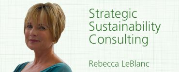 "Rebecca LeBlanc, sustainability consultant at ""Strategic Sustainability Consulting"" , Boston"
