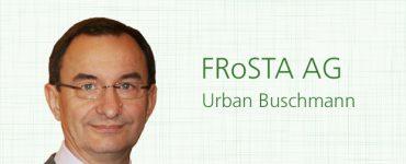 Urban Buschmann, Leiter Nachhaltigkeit und Verfahrensentwicklung, FRoSTA AG,