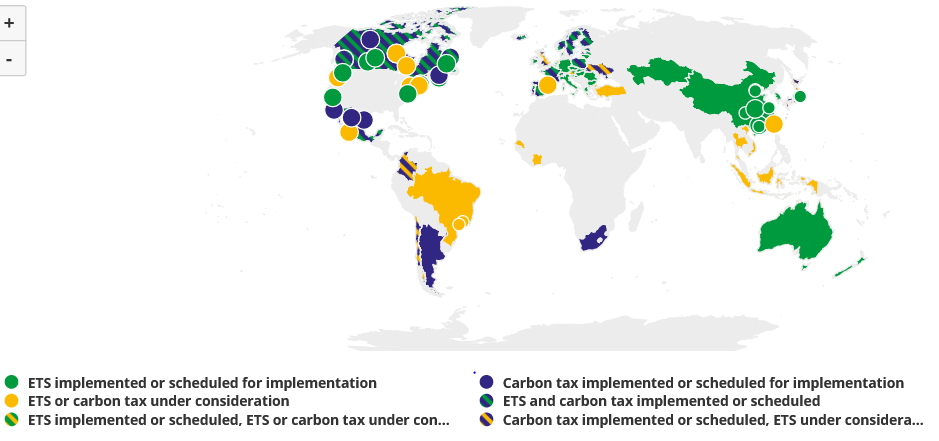 CO2 pricing global