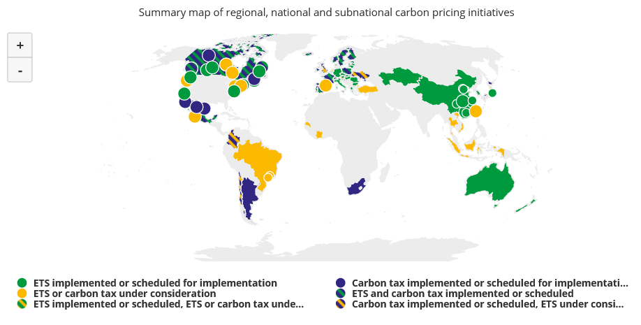 CO2-Bepreisung global
